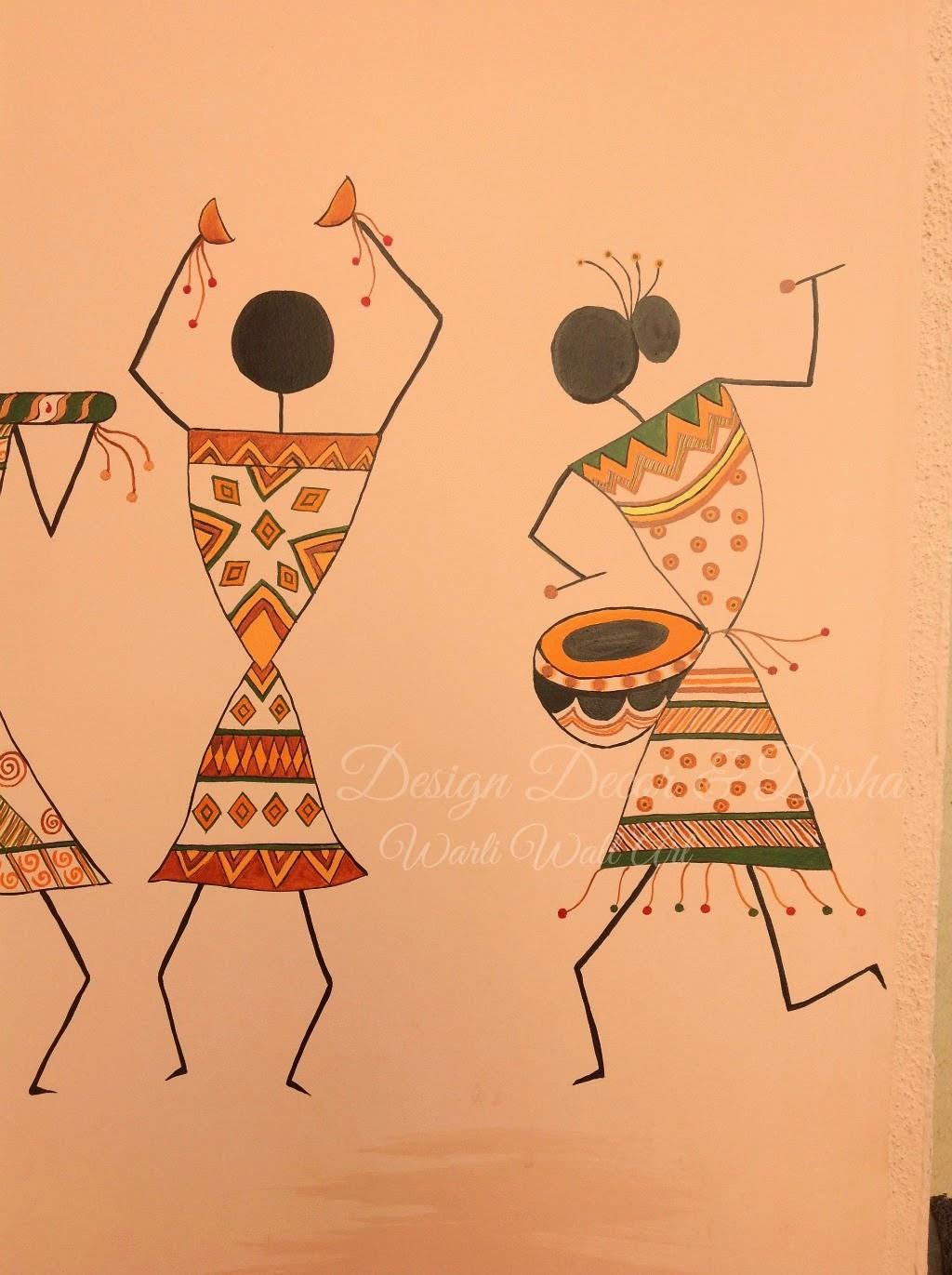 Warli designs on wall