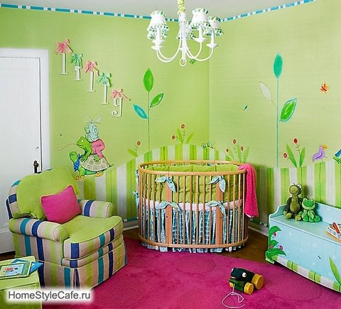 Hands always creating baby girl nursery ideas for Baby room mural ideas