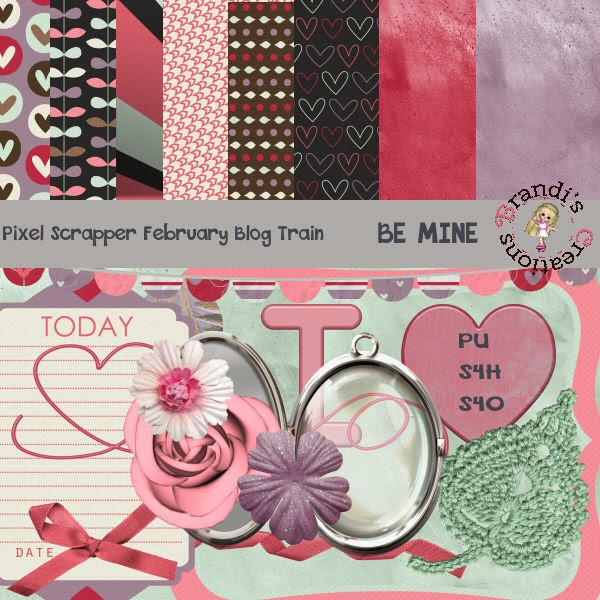Be Mine- Pixel Scrapper February Blog Train!