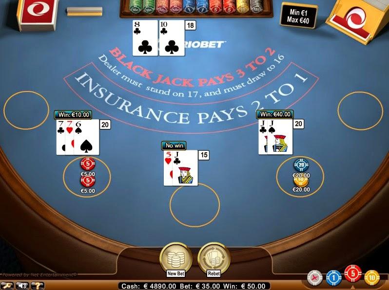 Triobet Blackjack Screen