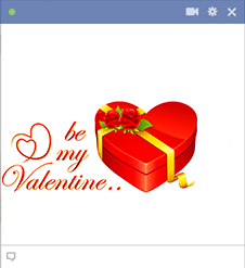 Be My Valentine Facebook Sticker