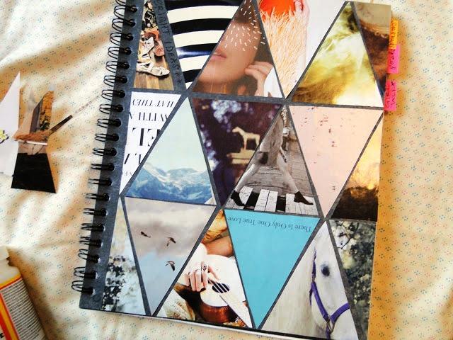 Cara Membuat Kerajinan Tangan Dari Kertas, Cover Notebook Dari Majalah ...