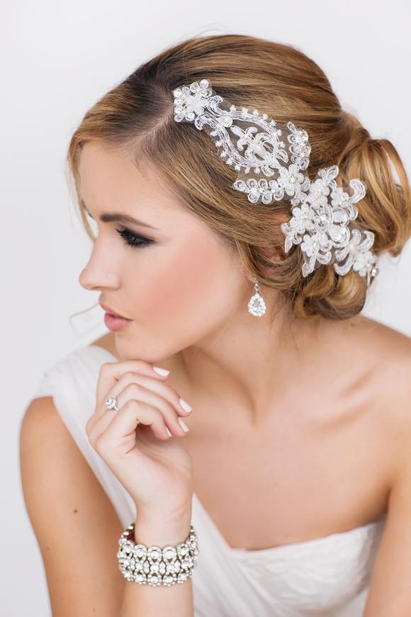 Harmony Bridal Headpiece - www.perlejewellerymakeup.com.au