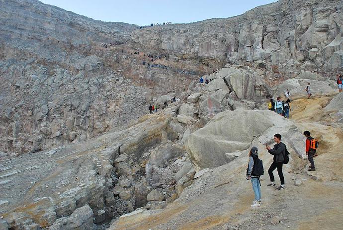 Paredes del cráter