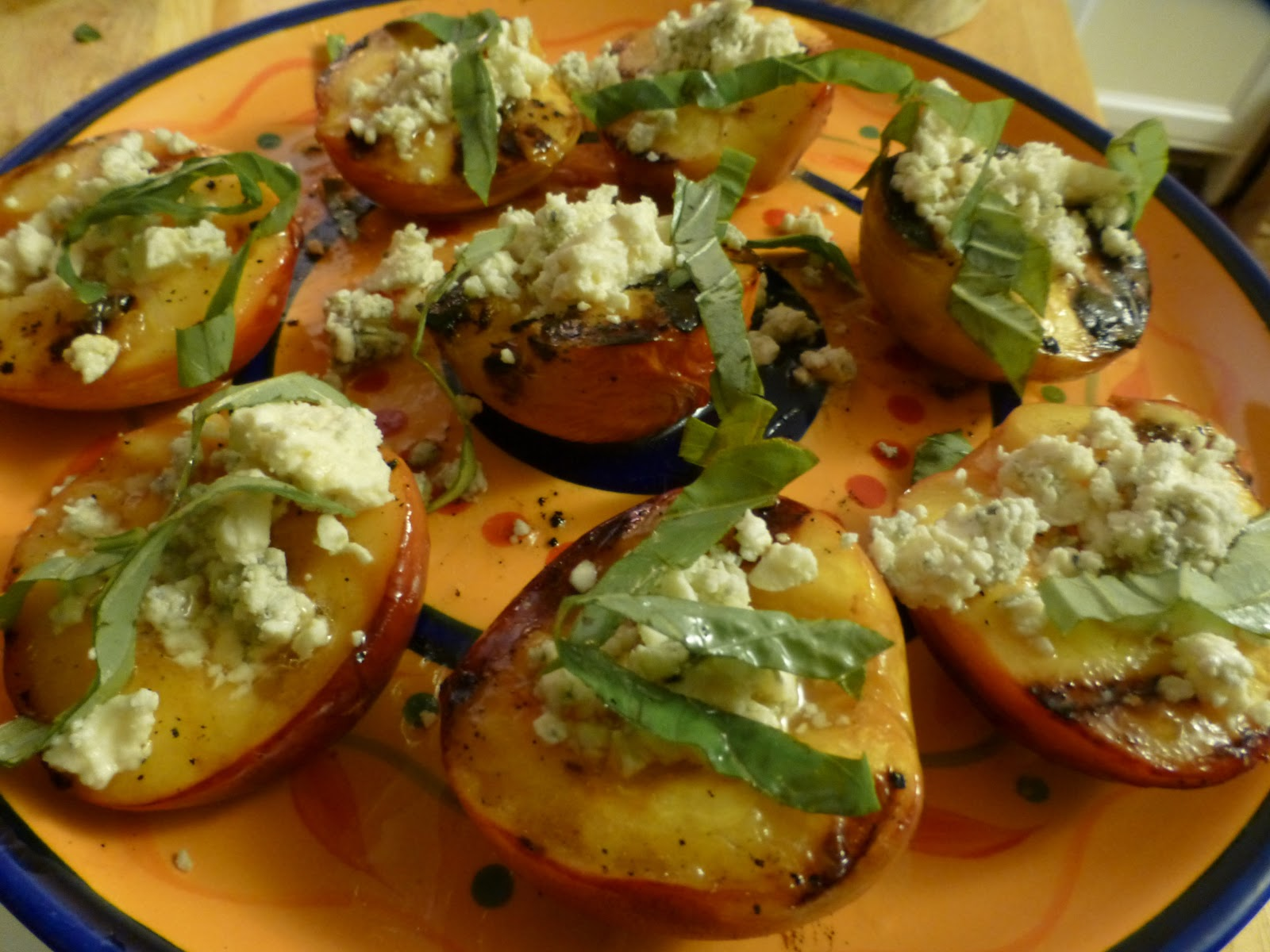 Douglas Kitchen Odyssey: Grilled Nectarines with Blue ...