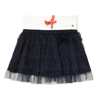 Frilled Tulle Skirt In Navy from NoNonsense