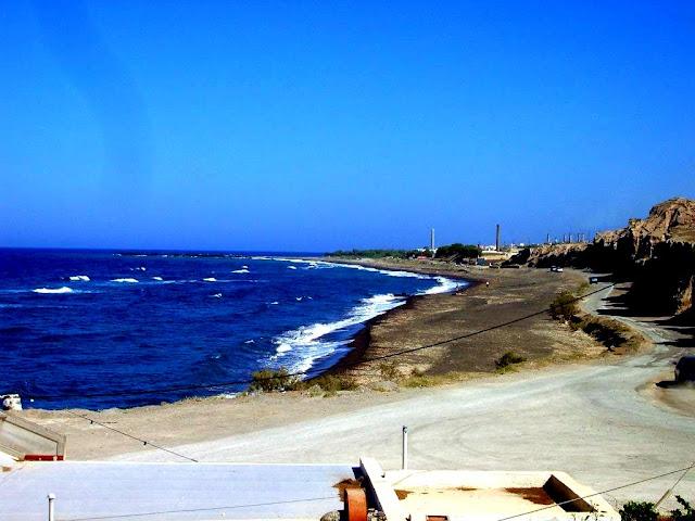 Black Sand Beach in Santorini