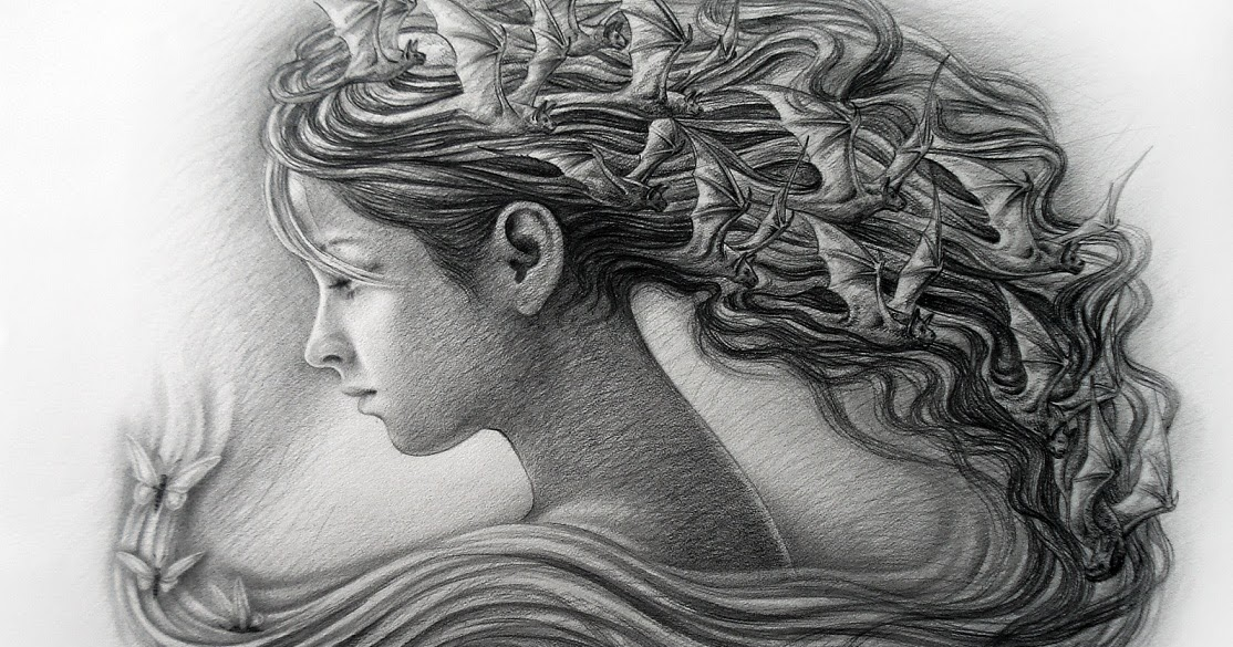 Dibujo de rostro de mujer a lapiz  Pintores Cubanos Contemporneos