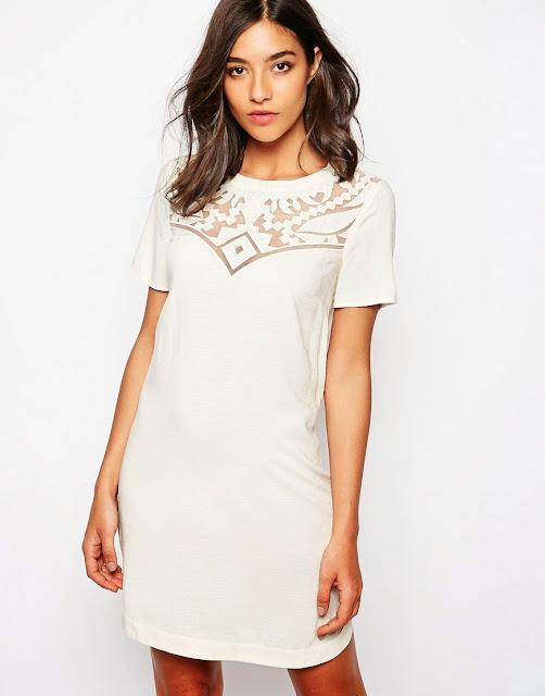 warehouse white dress