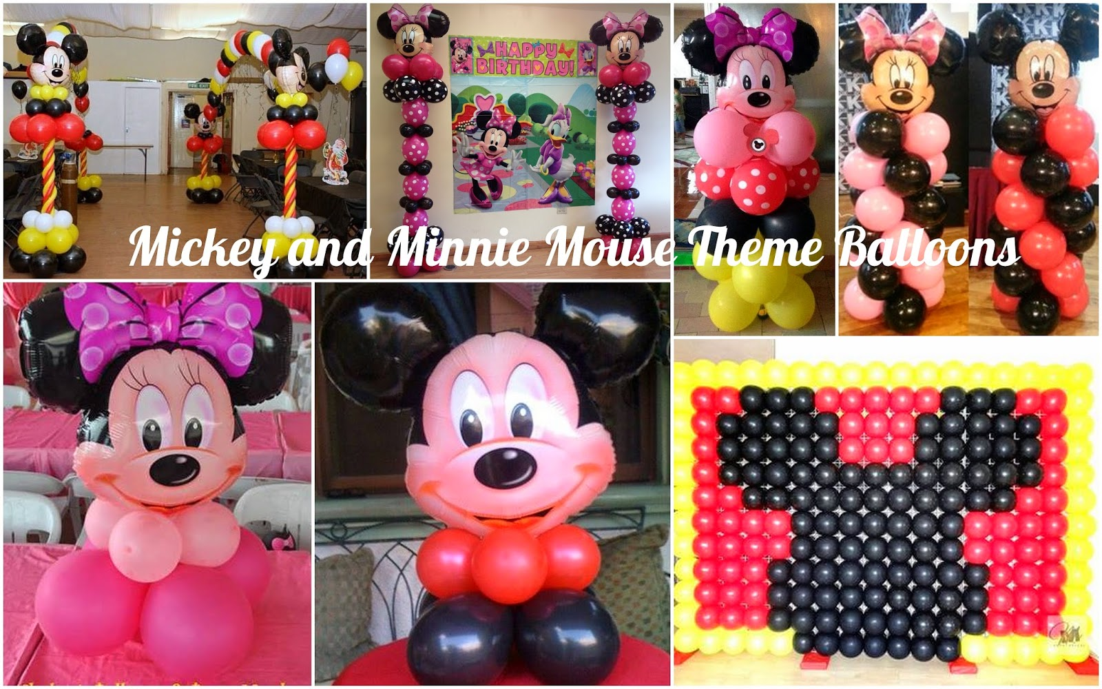 Mickey and Minnie Mouse Theme Birthday Party Athena Miels Balloons