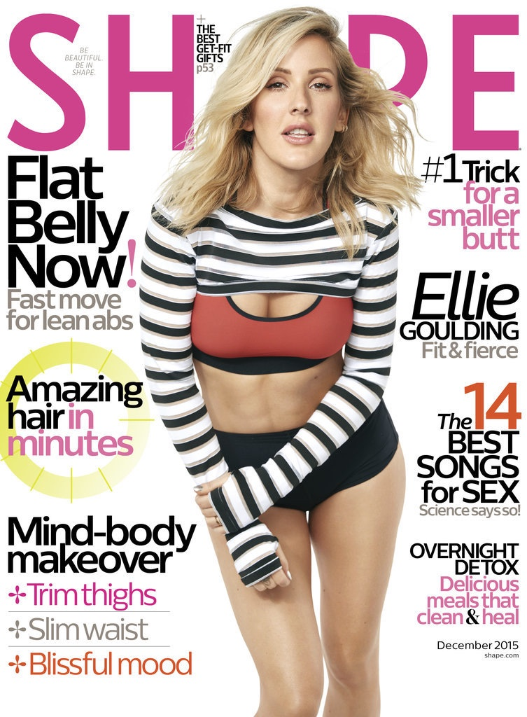 Ellie Goulding flaunts physique for Shape Magazine December 2015