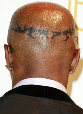 Jamie Foxx Head Tattoo