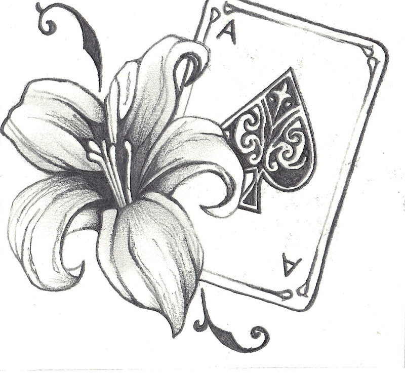and the ace of spades decorative swirls to added more detail i saw title=