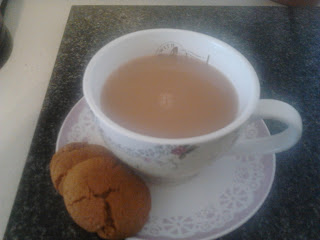 finished gingernut with a cuppa