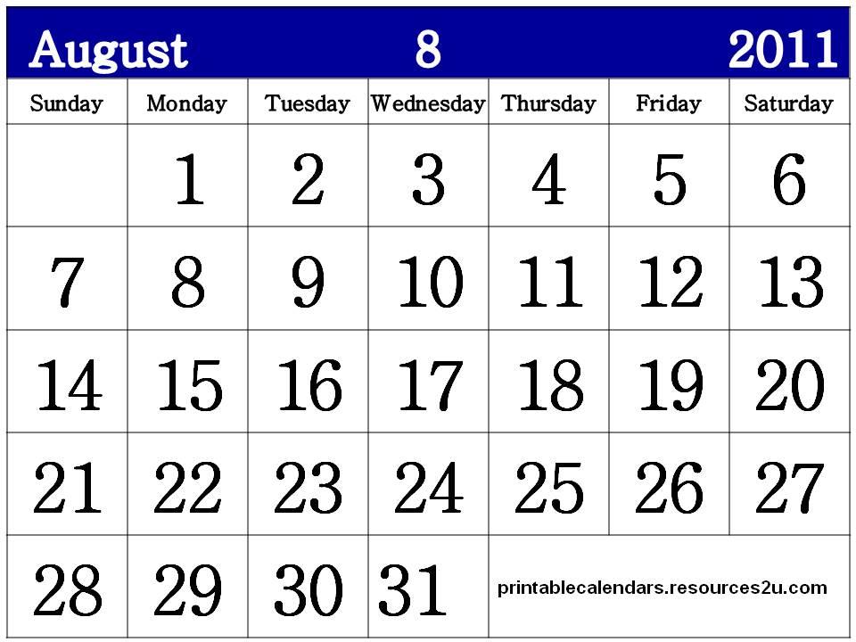 calendars 2011 august. august calendars. Free Aug