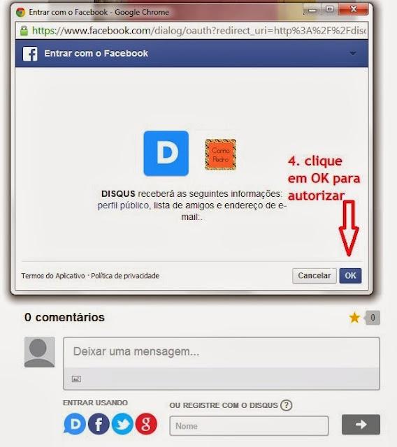 imagem 3 - tutorial - aprenda a usar o Disqus com o Facebook