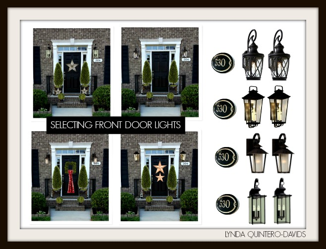 front door lightFOCAL POINT STYLING Exterior Home Improvements with Black