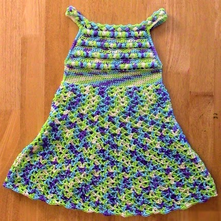 Puff Stitch Halter Dress - Free Pattern