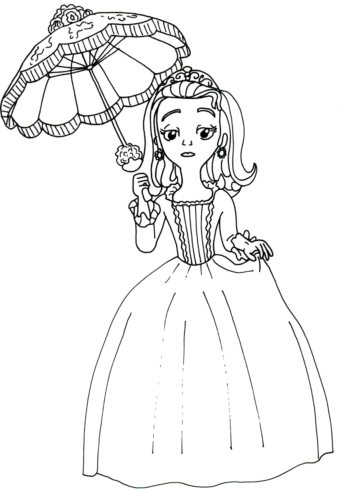 Sofia The First Coloring Pages: Amber Coloring Page