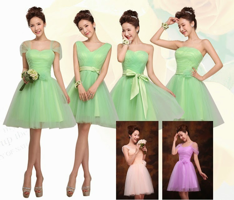 Organza Mint/Purple/Nude Pink Ballet Tutu Bridesmaid Dress