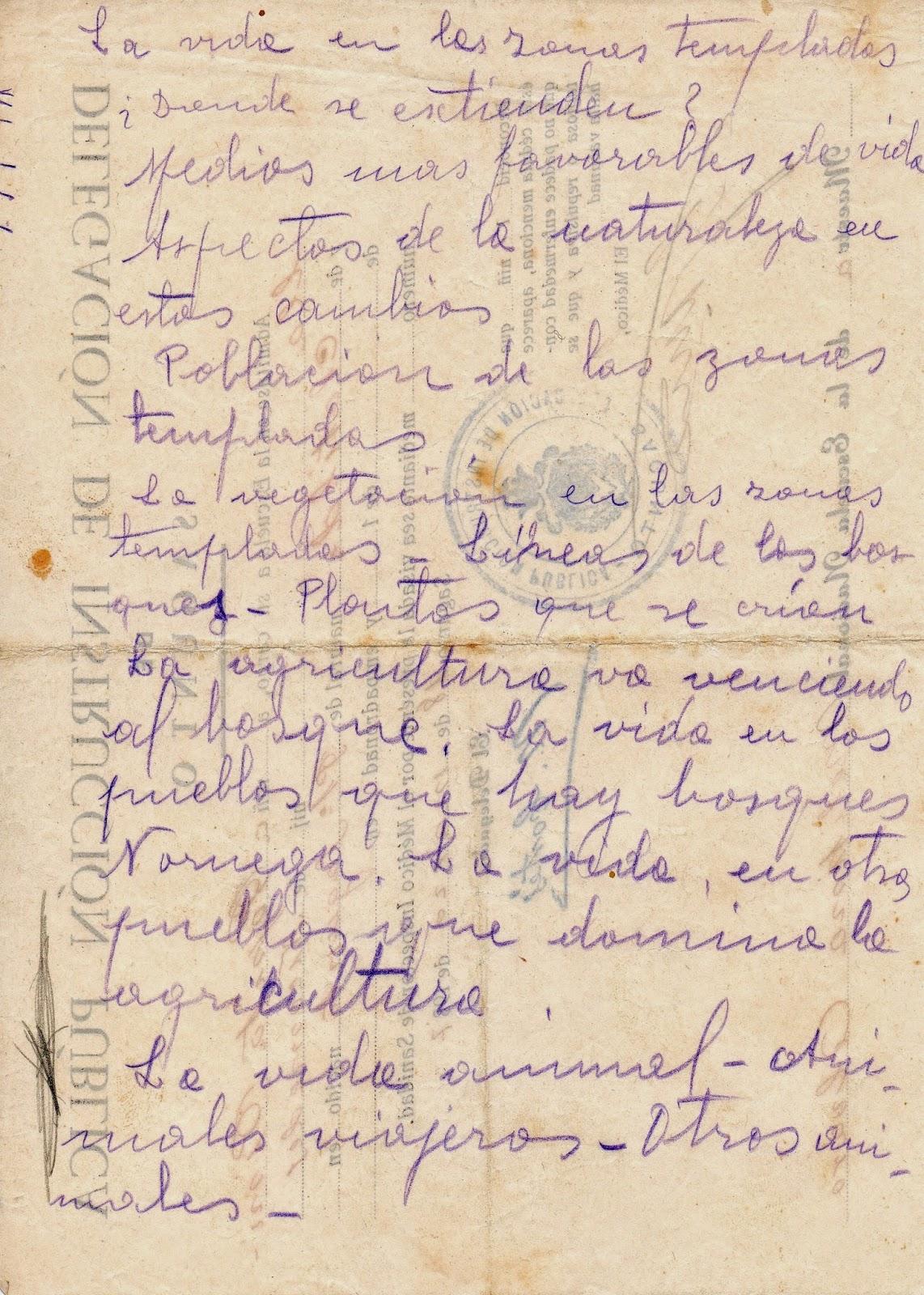 Notas de la abuela sobre diferentes aspectos de la vida en las zonas templadas