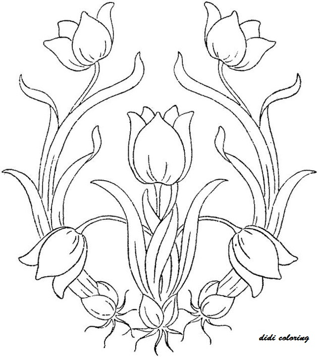 coloring pages tulips - photo#33