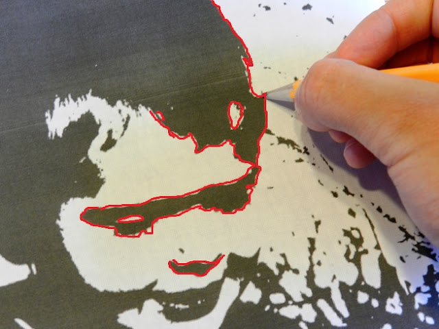 pencil transfer technique