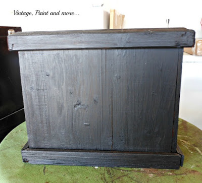 Vintage, Paint and more.. black chalkboard painted planter box