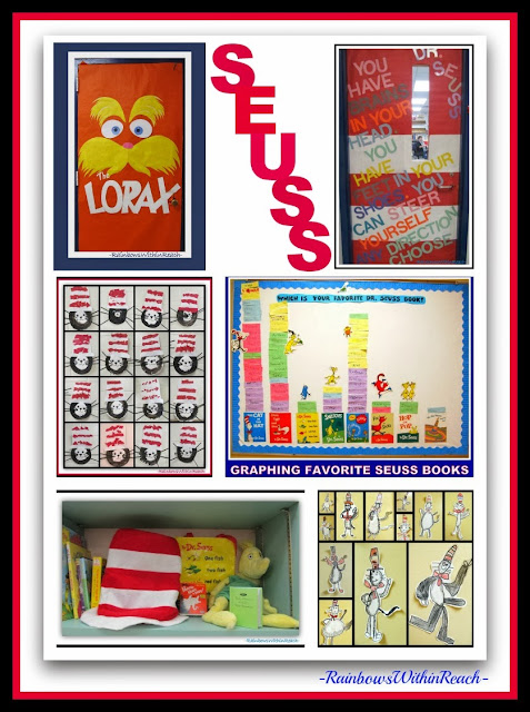 Seuss RoundUP of Creative Ideas: Classroom Doors and Charts at RainbowsWithinReach