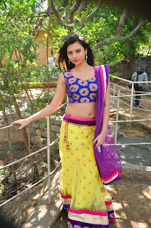 Actress Priyanka  Pictures in Half Saree at Oka Choopuke Padipoya Movie Opening  0110