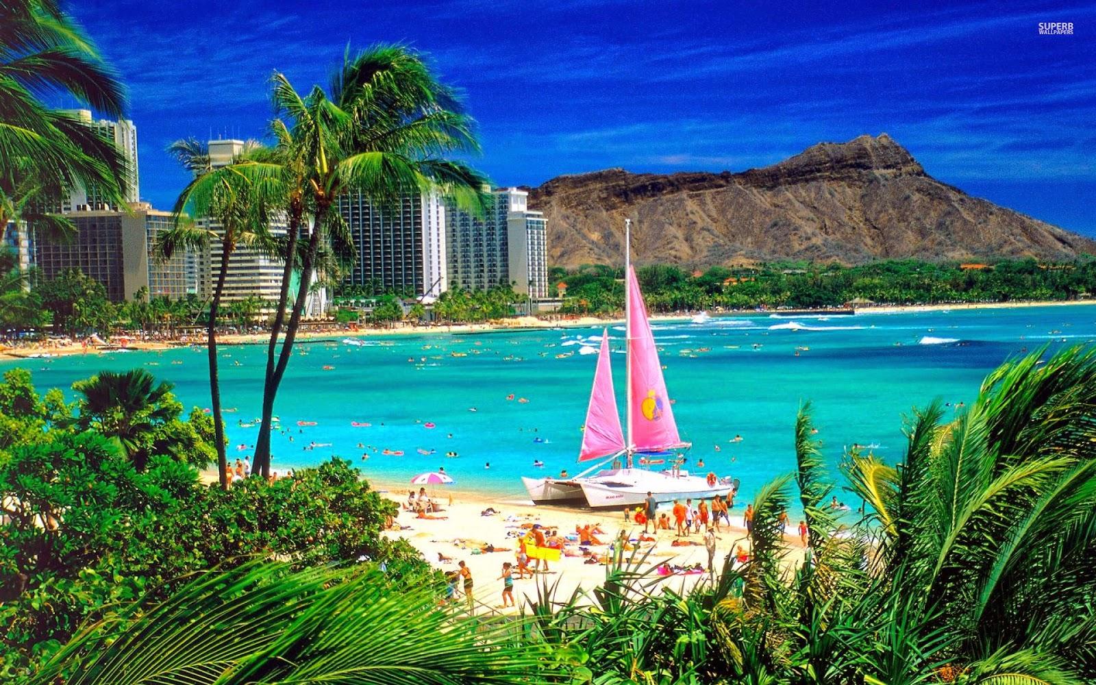 Waikiki beach 1920x1200 Resolution