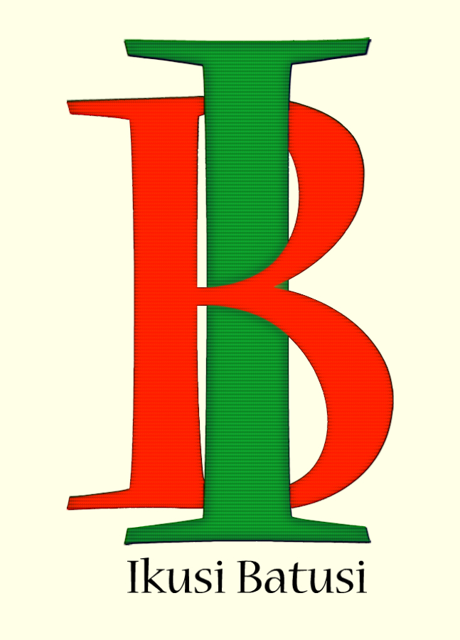 cartel de ikusi batusi con las iniciales i b