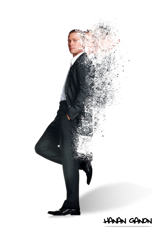 Photoshop 4U tutorial dispersion effect with Brad Pitt cs6