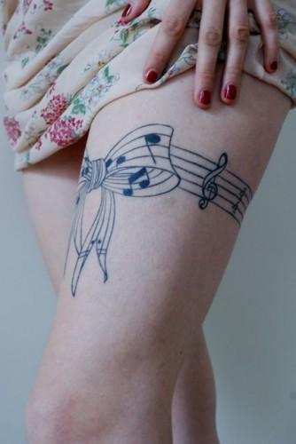 tatuering framsida lår