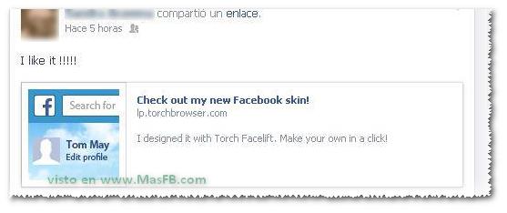 Facebook Facelift TorchBrowser 2013