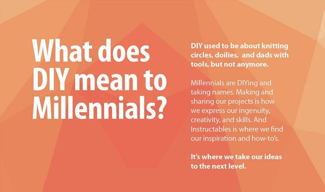 what does diy mean to millennials infographic visualistan