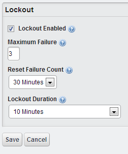 Liferay Password Lockout options