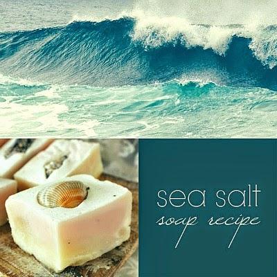DIY Sea Salt Soap with Shell