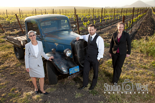 business portraits in san luis obispo vineyard