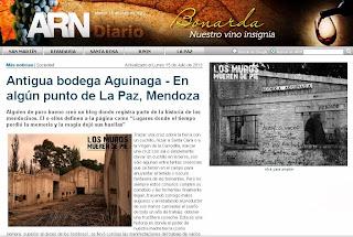 Antigua bodega Aguinaga - En algún punto de La Paz, Mendoza