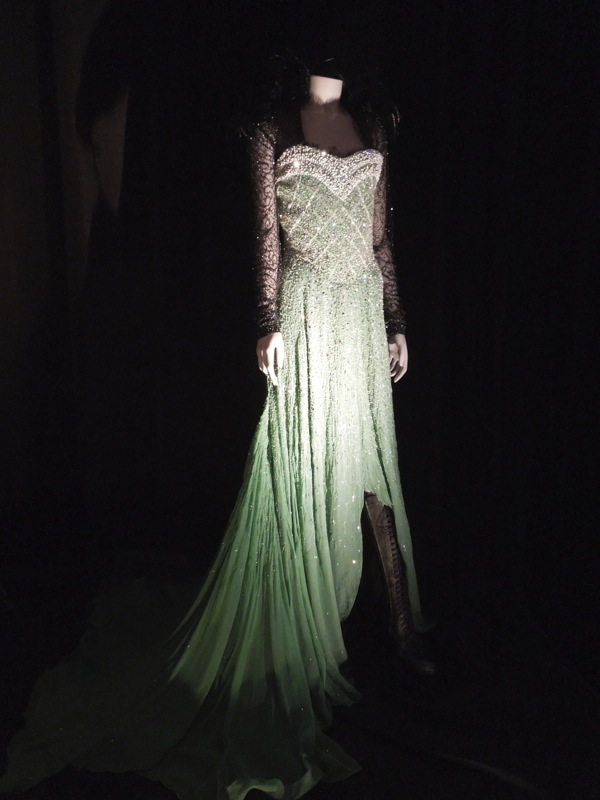 Rachel Weisz Evanora Emerald City dress Oz Great Powerful