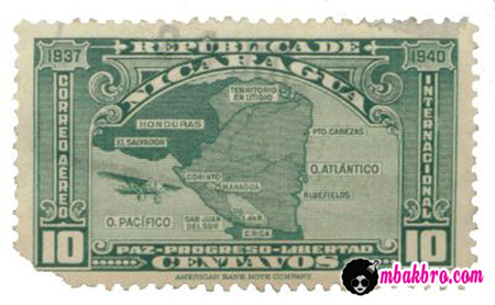 desain perangko Nikaragua