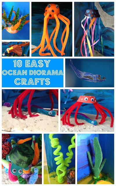 Easy Ocean Diorama Crafts For Kids