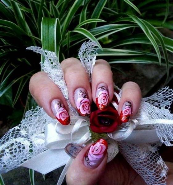 3d Pink Nail Art