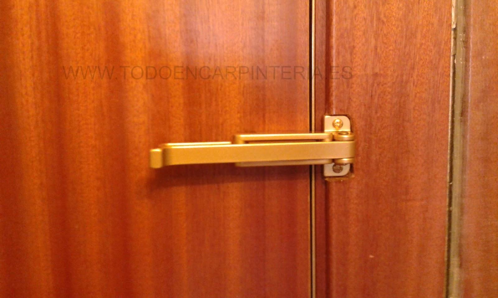 Retenedor de seguridad para puerta de entrada. | TODO EN CARPINTERÍA ...