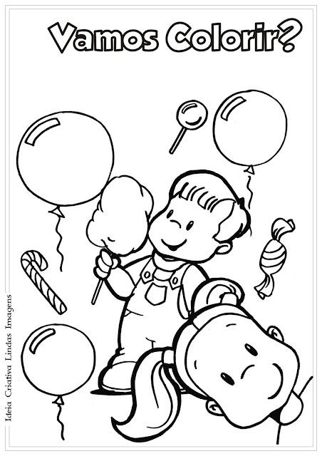 Dia das crianças para colorir