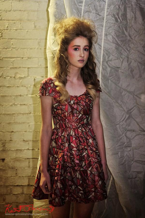 Aiyana,  St frock Sandra Dee Dress - Urban Fashion Photography by Kent Johnson.
