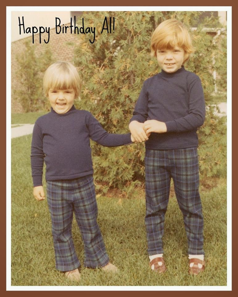 Al & I in our matching outfits - Mom like to do this alot LOL | Robin Davis Studio