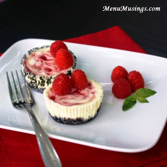 Raspberry Swirl Cheesecake Minis