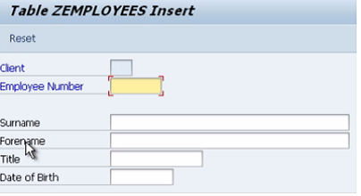 SAP ABAP - Entering Records into a Table